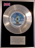 "SMOKIE - 7"" Platinum Disc - FOR A FEW DOLLARS MORE"